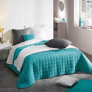 Couvre Lit Matelassé Ikea : couvre lit matelass candy 220x240cm turquoise ~ Melissatoandfro.com Idées de Décoration