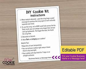 Simple Diy Cookie Kit Instructions - Printable Card