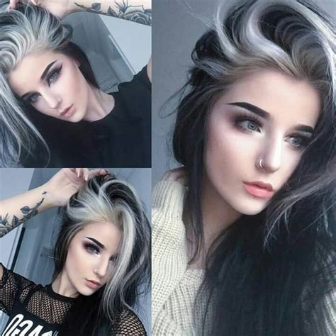 166 Best Black And White Hair Images On Pinterest