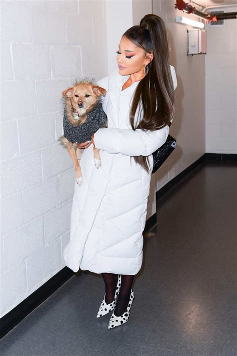 ariana grande seen backstage at her sweetener world tour ...