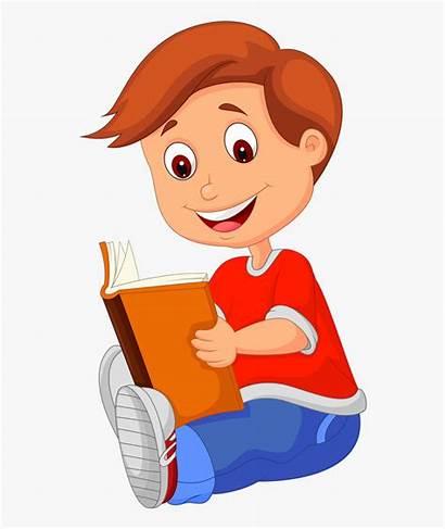Reading Clipart Cartoon Boy Children Transparent Clip