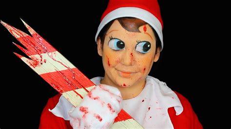 evil elf   shelf makeup tutorial youtube