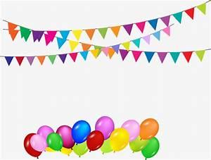 Vector Banderines Y Globos Fiesta De Cumpleaños Decoracion, Bunting, Globo, Globos De Colores