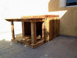 pallet wood house for your puppies pallet ideas With wood for dog house