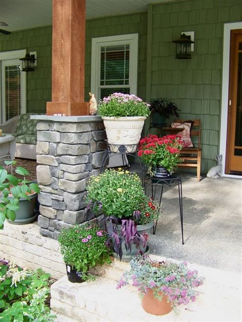 Rock Columns Porch by And Wood Columns Home Design Ideas Pictures