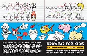 cartooning for children by turning words into cartoons With turn letters into a book