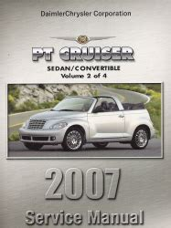 online car repair manuals free 2007 chrysler pt cruiser electronic throttle control 2007 chrysler pt cruiser pt service manual 4 volume set