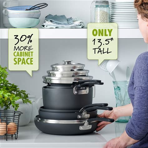 cookware stackable nonstick greenpan sets piece levels
