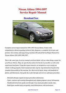 Nissan Altima 1994-1997 Repair Manual By Fu Juan