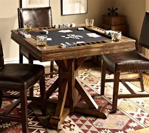 card and game tables card table pottery barn basement ideas pinterest