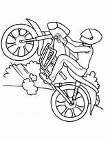 Bike Coloring Pages Sport Helmet Motorcycle Mountain Rated Printable Getcolorings Colorings sketch template