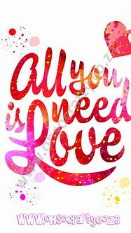 All You Need Is Love Diamond Painting Kit 30cm x 40cm ...