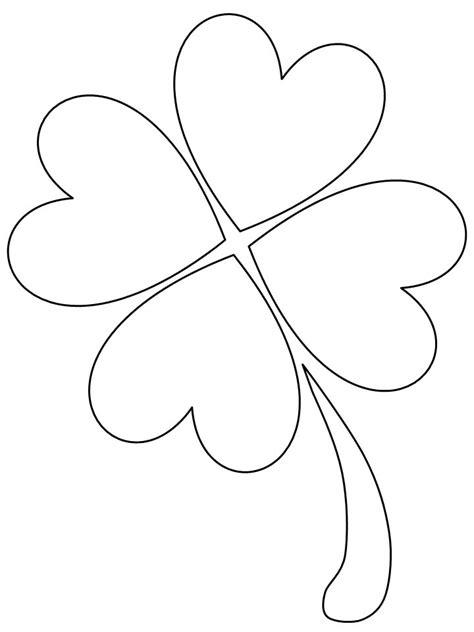 Coloriage Saint Patrick Beau Trefle A Quatre Feuilles