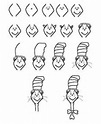 Learn to draw the cat in the hat | Dr. Seuss Art Lessons ...