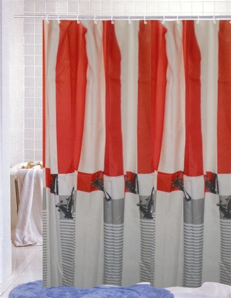 modern design stripe bath shower curtain contemporary