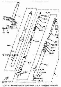 Yamaha Motorcycle 1983 Oem Parts Diagram For Front Fork