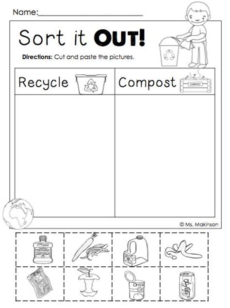 freebie earth day printables sort it out cut and 174 | 4aa9111ec0cf3edf56f04556e3bb9eca