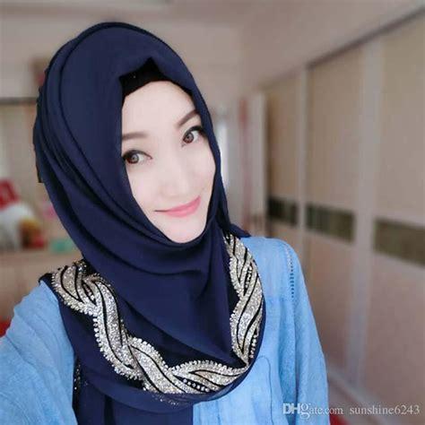 acheter musulman hijab jersey echarpe femmes couvre tete femmes turban hijabs gris islamique