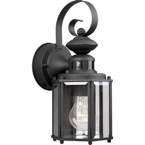 motion activated porch light shop progress lighting motion sensor 13 in h black motion