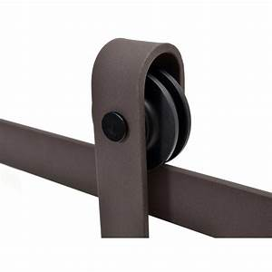calhome 60 in antique bronze classic bent strap barn With 60 inch barn door hardware