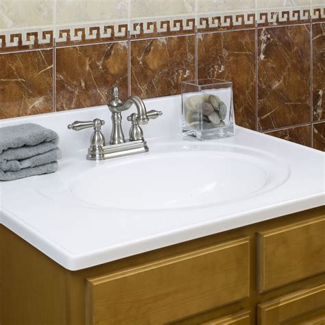 cultured marble vanity top flush oval bowl