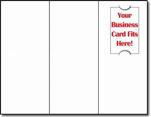 Brochure with business card slot tri fold brochure paper for Brochure with business card slot