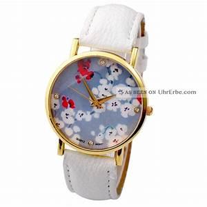 Retro Uhr Damen : vintage retro blume damen armbanduhr basel stil quarzuhr lederarmband uhr ~ Markanthonyermac.com Haus und Dekorationen