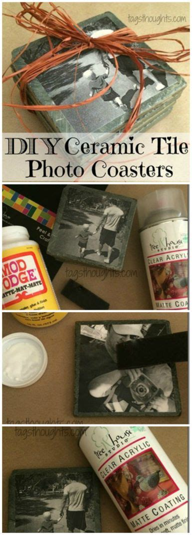 photo coasters homemade gifts and friends family on pinterest