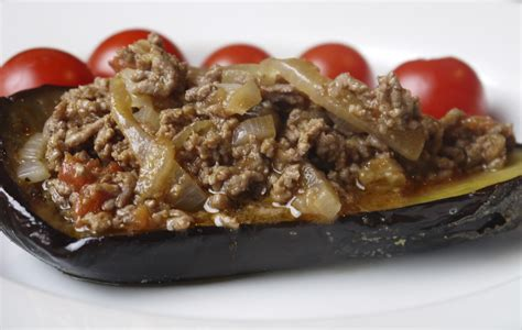 ground recipies simple stuffed eggplant with ground beef