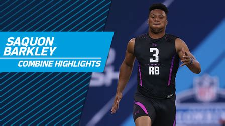 penn state rb saquon barkley  nfl scouting combine