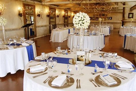 Royal Blue Silver White Wedding Decorations |http