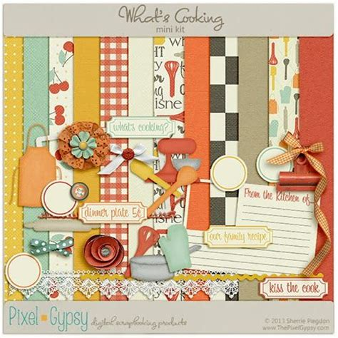 scrapbooking cuisine 198 best digi scrap cooking and kitchen theme images