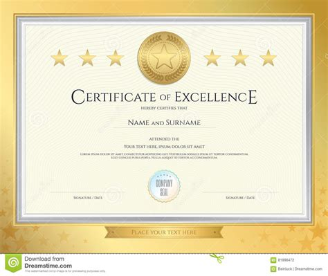 Baseball Achievement Certificate Baseball Success Certificate Of Excellence Template In Sport Theme For