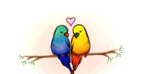 Love Bird Color Drawings