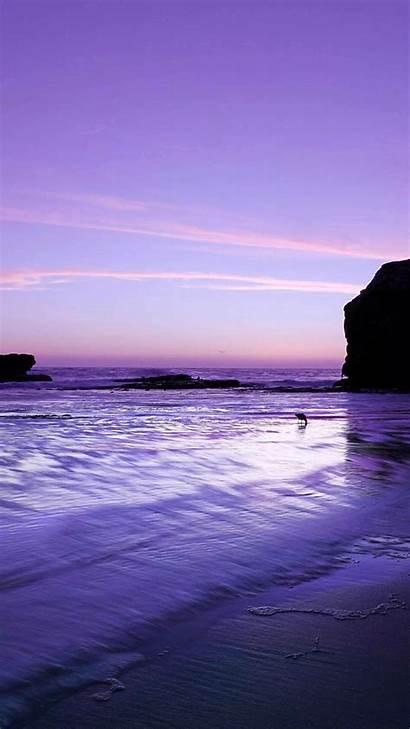 Purple Landscape Ocean Iphone Phone Wallpapers Scenery