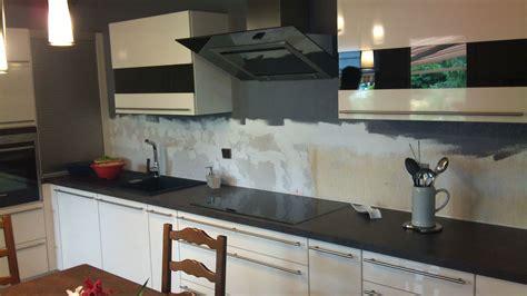vervenne cuisine crédence en verre blanc et noir satiné avant et après