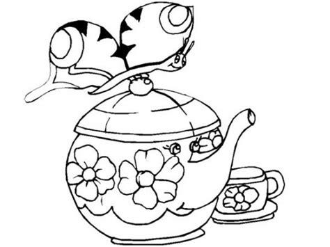 Tea Pot Coloring Page