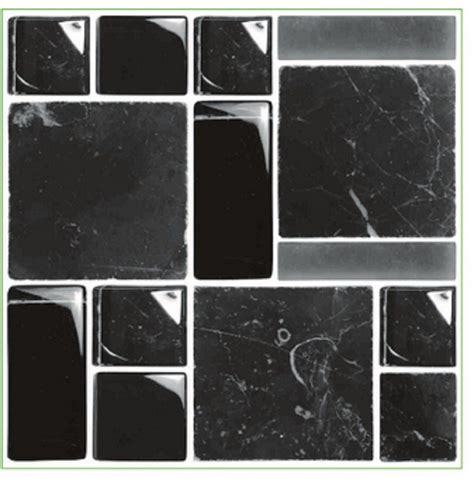 Transfers For Bathroom Tiles by Pack Of 10 Glass Effect Black Multi Mosaic Tile Transfers