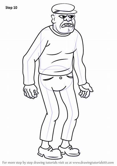 Uncle Criminal Draw Grandpa Drawing Cartoon Angry