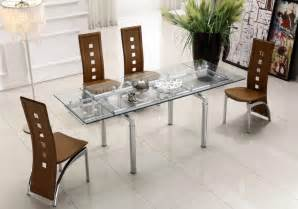 glass dining room table set extendable clear glass top leather modern dining table sets naperville illinois ah103l228