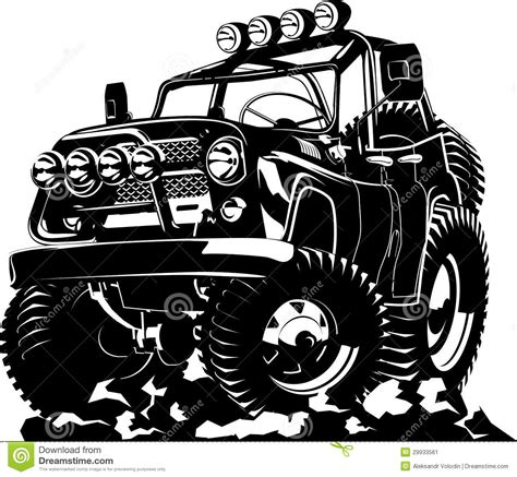 jeep cartoon offroad cartoon jeep stock image image 29933561