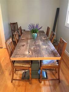 57 best reclaimed wood tables images on pinterest With dining room tables made out of reclaimed wood