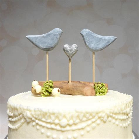 birds wedding cake topper etsy wedding cake topper grey cake topper bird