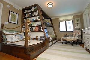 Superb bunk beds with trundlein Bedroom Beach Style with