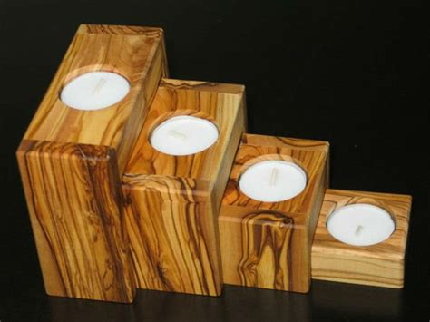 diy wooden candle holders  add rustic charm  fall