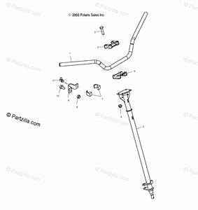 Polaris Atv 2006 Oem Parts Diagram For Steering Post   Ab