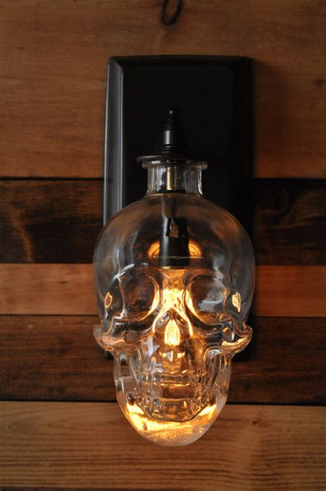 Skull Sconce - lighting expert creates a spooky skull wall sconce from
