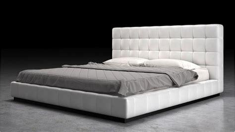 White Tufted Leatherette Verona Platform Bed  Zuri Furniture
