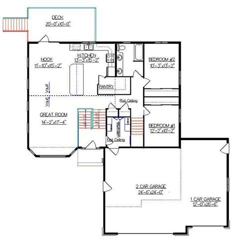 bi level floor plans bi level house plan with a bonus room 2010542 by e designs