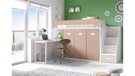 canapé lit mousse lit mezzanine avec bureau moderne et glicerio so nuit